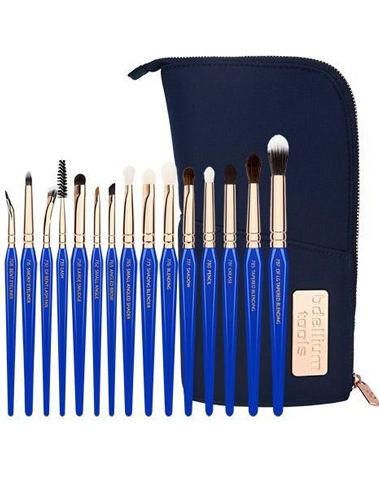 Golden triangle eyes only complete 15pc brush set with pouch