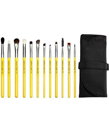 Studio eyes 12pc brush set with roll up pouch